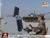 China experimenta con tanques controlados a distancia