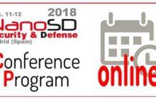 Publicada la agenda definitiva de Nano S&D 2018
