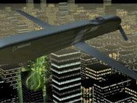 Un misil de crucero transporta el CHAMP que interrumpe los sistemas electrónicos. Ilustración cortesía de Boeing