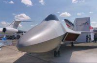 Maqueta del cazabombardero turco TF-X