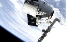 La cápsula Dragon de SpaceX llega a la Estación Espacial Internacional el 6 de mayo de 2019, con una carga de 2.500 kg.
